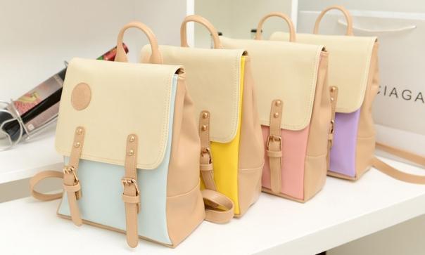 Japanese School Style Pastel Bag